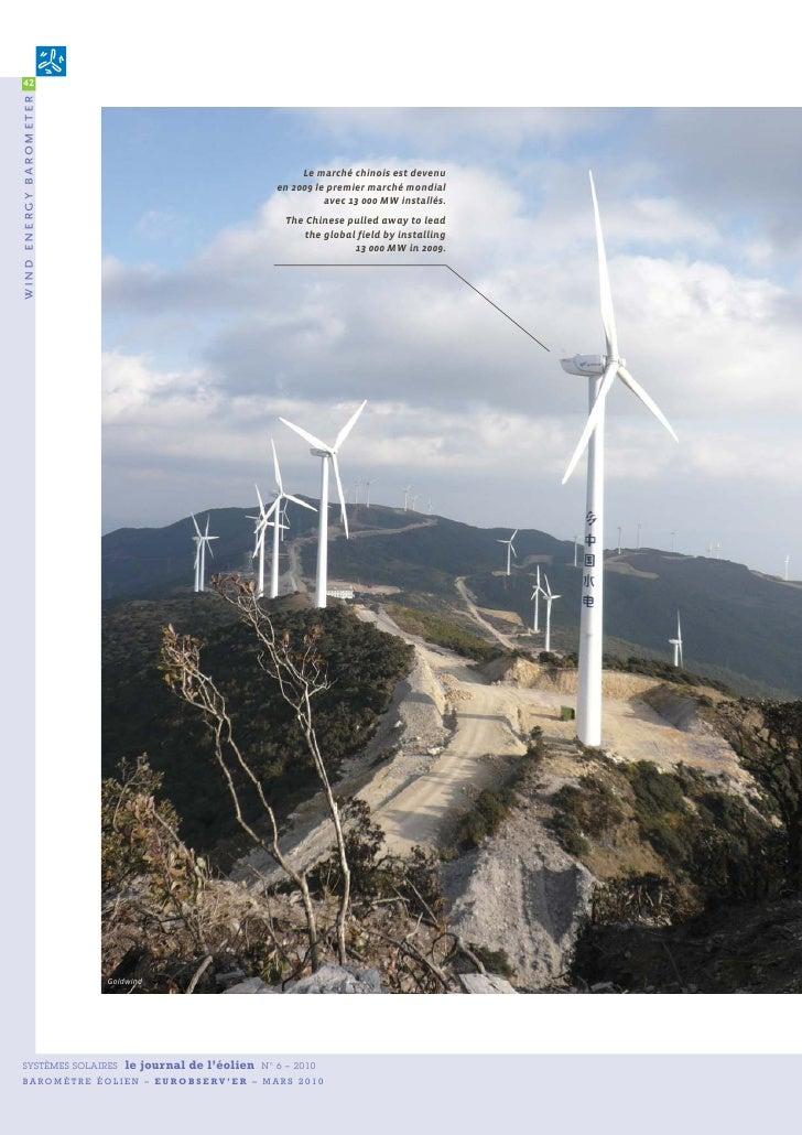 42 wind energy b arometer                                                                  Le marché chinois est devenu   ...