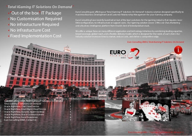 Euro Consulting EMEA   iGaming Package