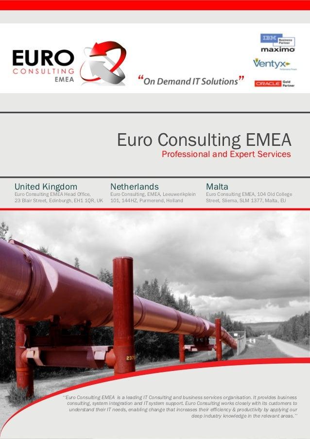 """""""                                              """"                                              Euro Consulting EMEA        ..."""
