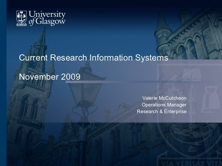 Current Research Information Systems