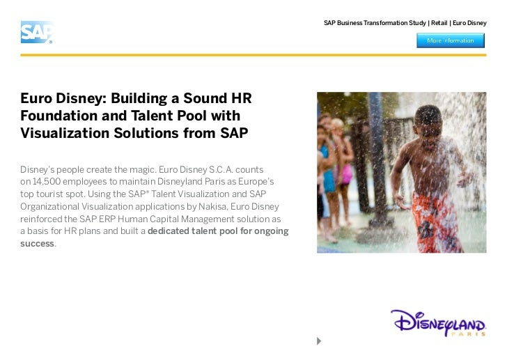eurodisney disney land paris case study solutions Free essay: case study 6 - what are the disney resorts and parks aiming for   the success and downfall of disneyland paris and fordlandia  objective of this  case analysis is to evaluate the proposed euro disneyland.