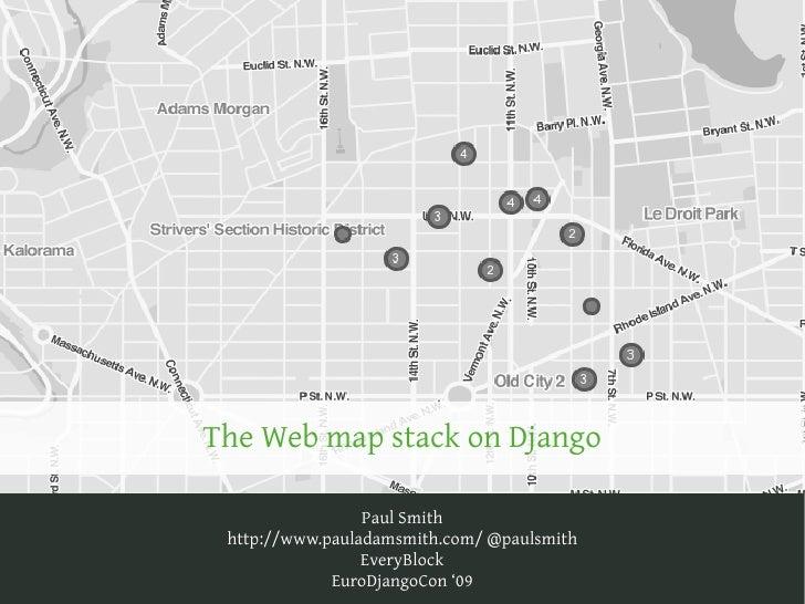 The Web map stack on Django