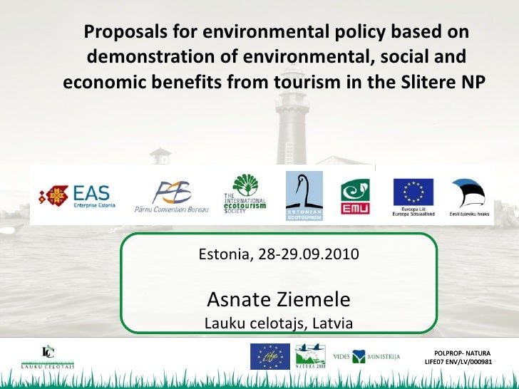 Proposals for environmental policy based on   demonstration of environmental, social and economic benefits from tourism in...