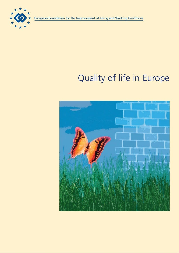 Eurofound.quality of life in europe eu