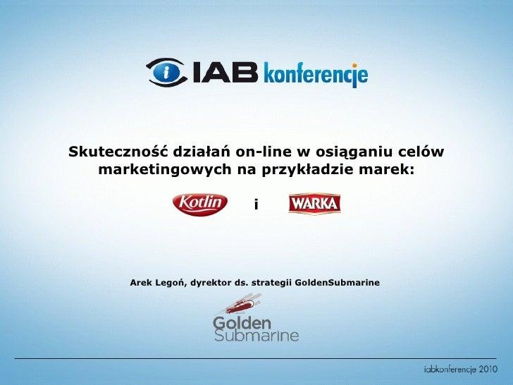 Skuteczność działań on-line w osiąganiu celów marketingowych.