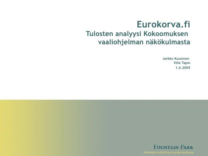 Eurokorva.fi ja kokoomuksen eurovaalihjelma