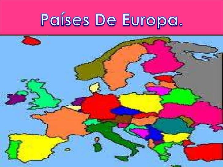 Países De Europa.<br />
