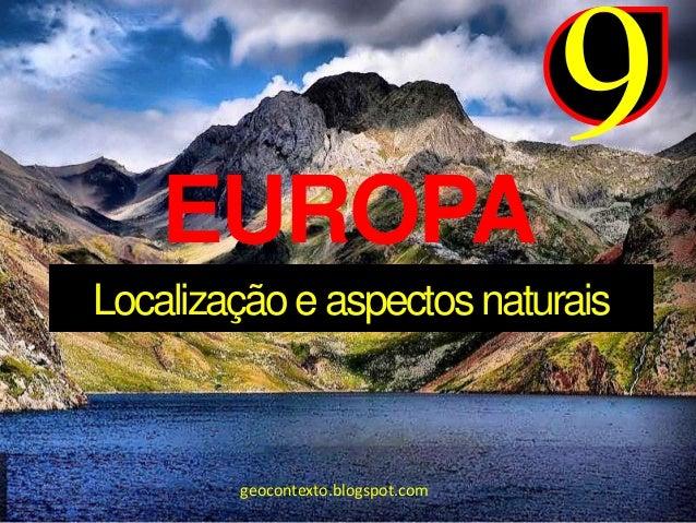 Europa   aspectos naturais