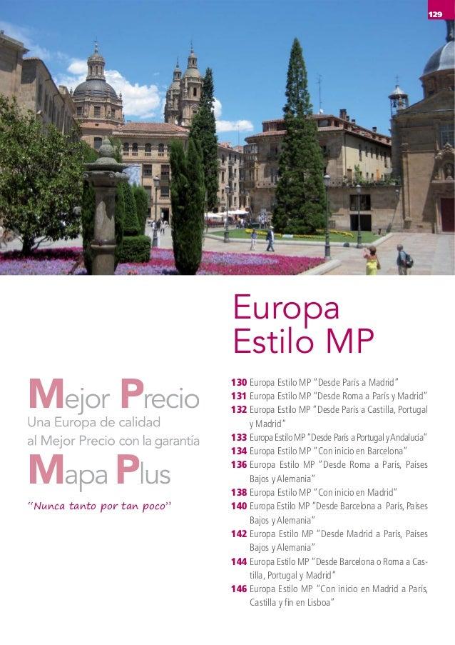 """Europa Estilo MP 129 130 131 132 133 134 136 138 140 142 144 146 Europa Estilo MP """"Desde París a Madrid"""" Europa Estilo MP ..."""