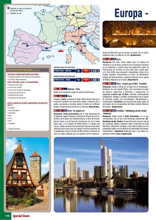 Europa -  3 Ciudades en que se pernocta y    número de noches.      Ciudades en ruta.                                     ...
