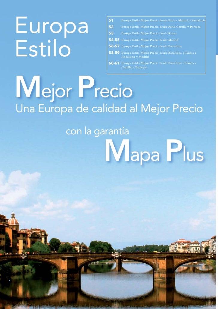 Circuitos Mejor Precio por Europa 2012. Mapaplus