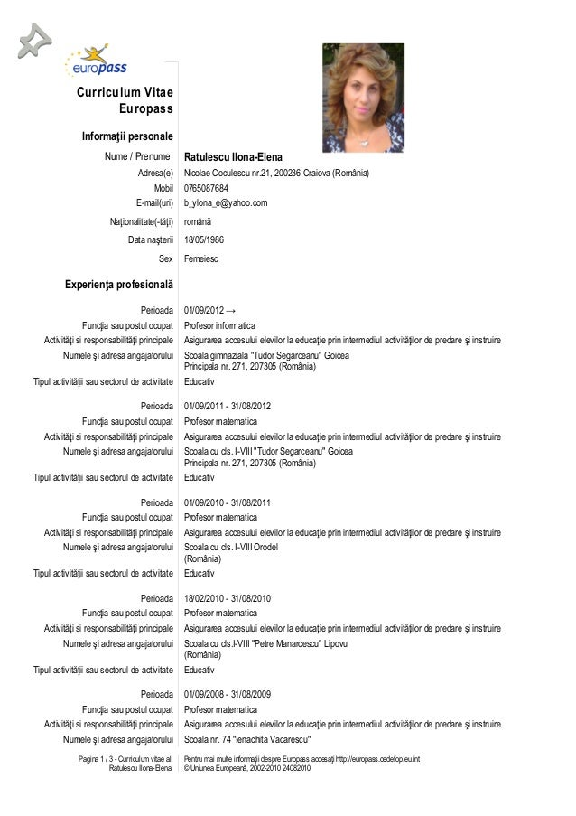 model de cv simplu in romana download