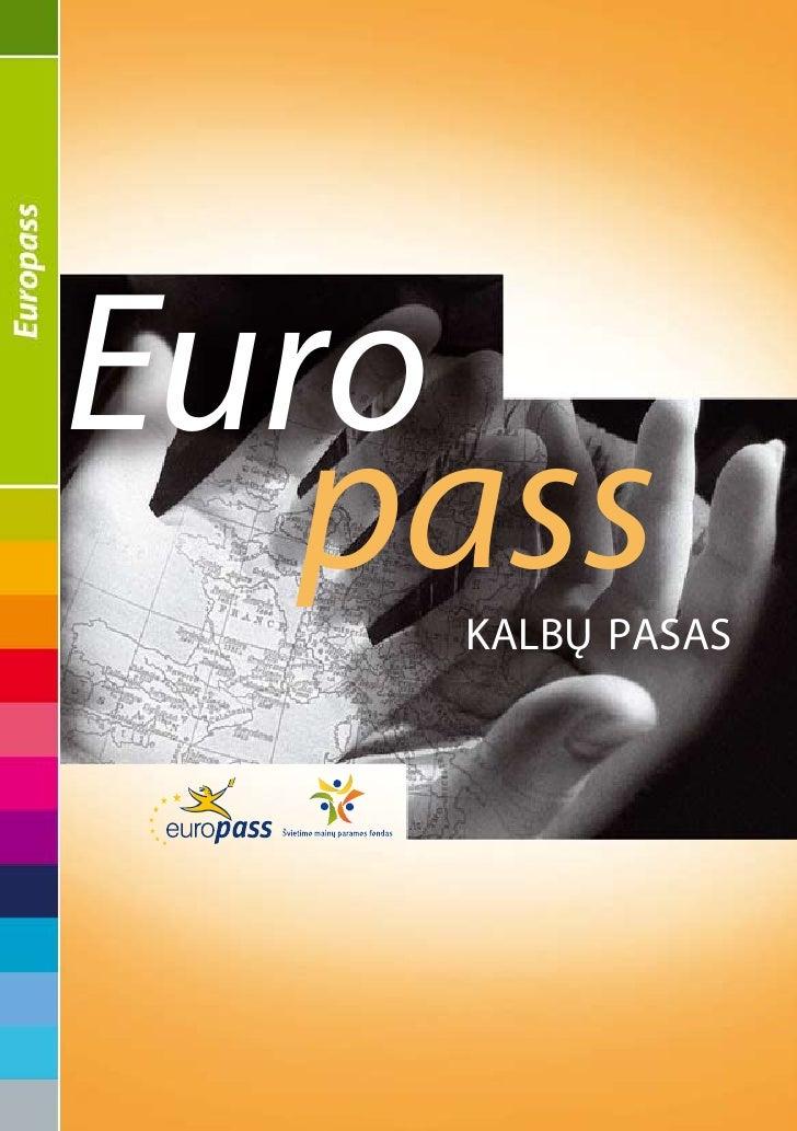 Euro    pass     kalbų pasas