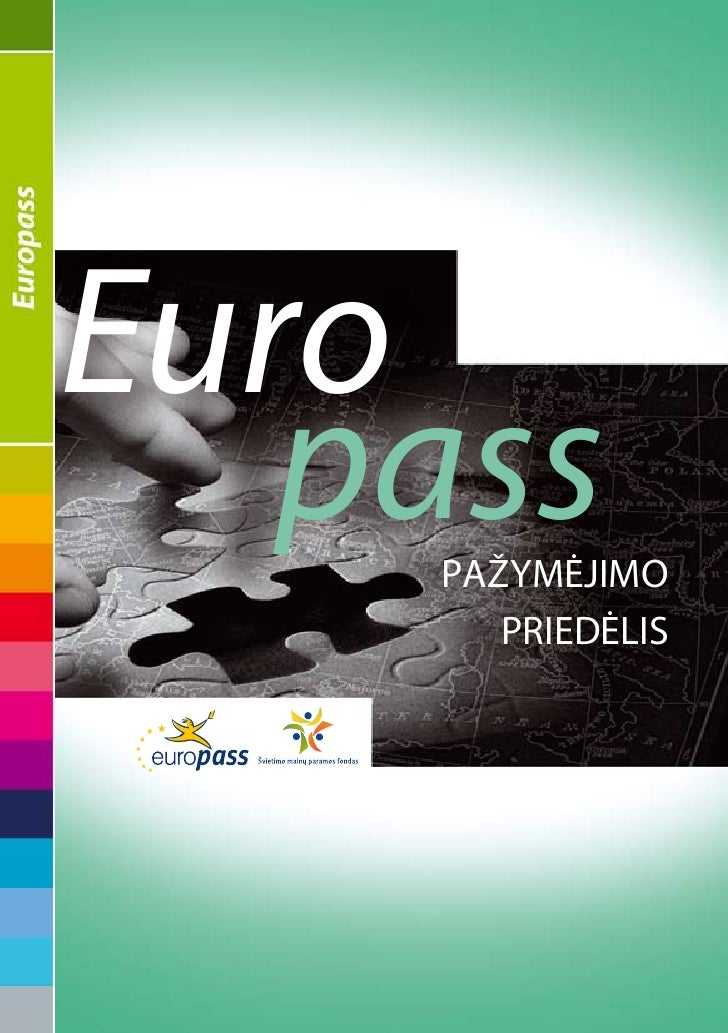 Euro    pass     pažymėjimo        priedėlis