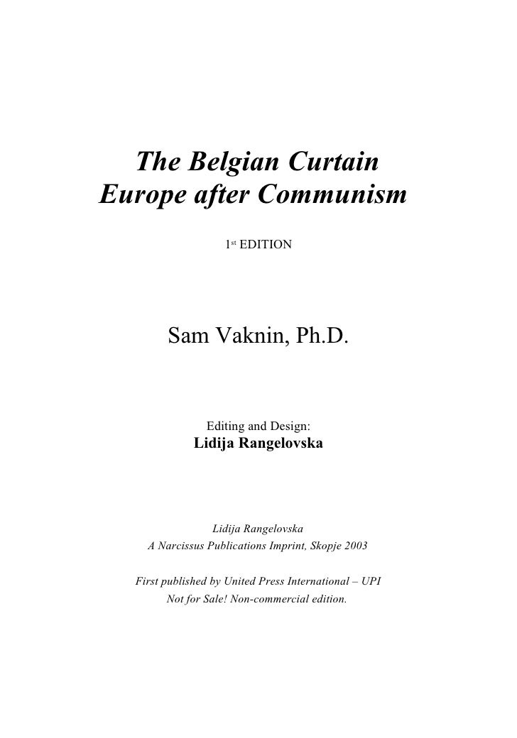 The Belgian Curtain - Europe after Communism