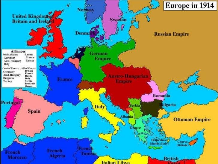 Europe Maps 1914