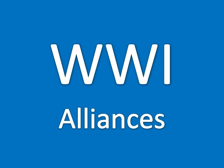 Europe Wwi Alliances