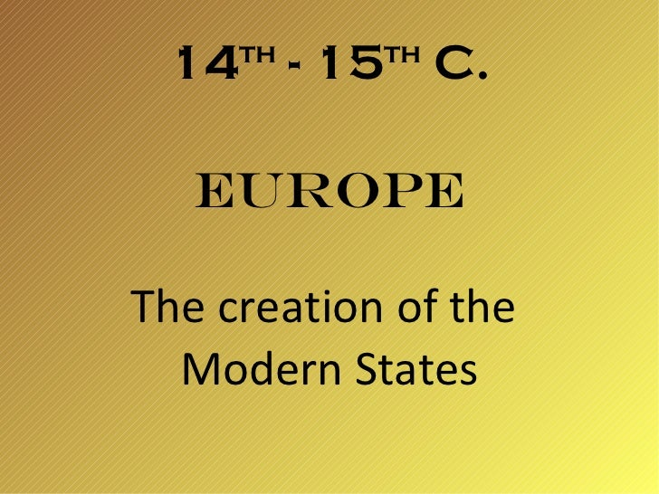 Europe 14 15th