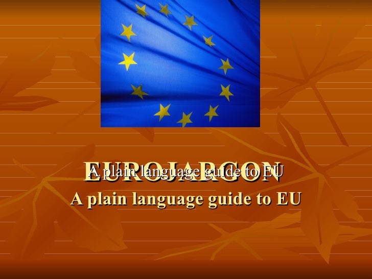 European Union Jargons