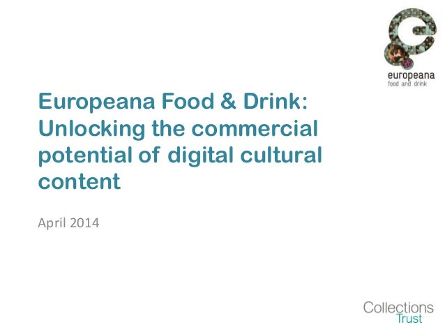 Introducing Europeana Food and Drink!