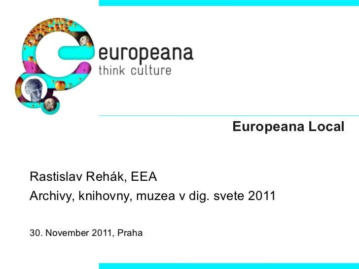 Europeana Local a poskytováni dat do Europeana