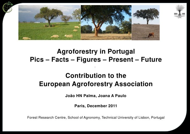 Agroforestry in Portugal Pics – Facts – Figures – Present – Future              Contribution to the       European Agrofor...