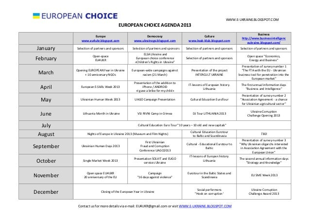 European choice Agenda 2013 ENG