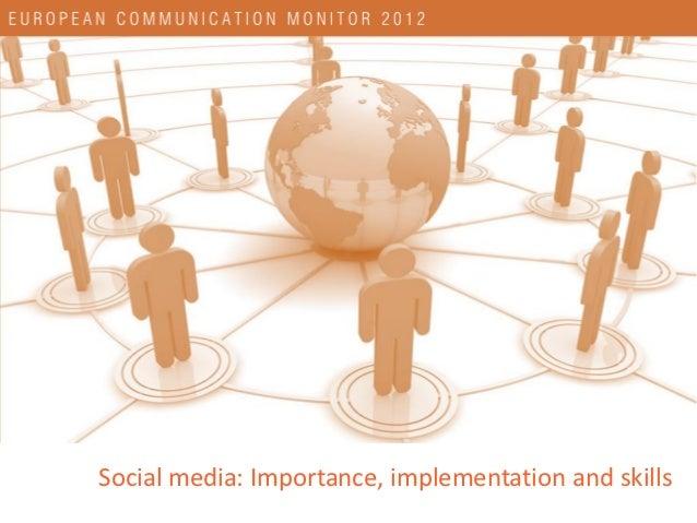 European communication monitor 2012   social media