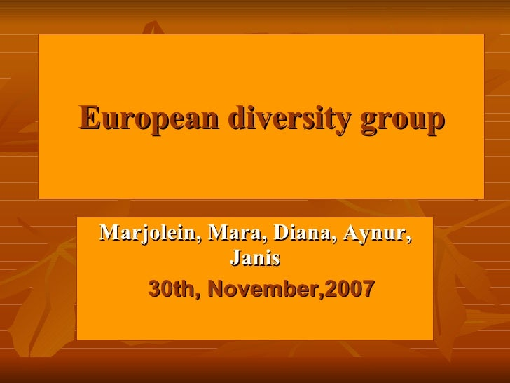 FaceIt: European Diversity