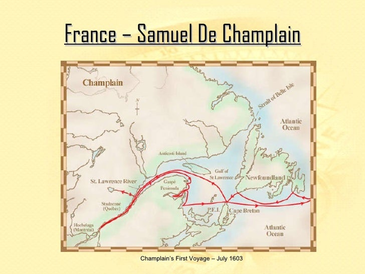 the first french settlements 1603 chap The irish interlude  frontiersmen were pushing their way westward from the early settlements,  this chap must have backed the wrong horse in the.