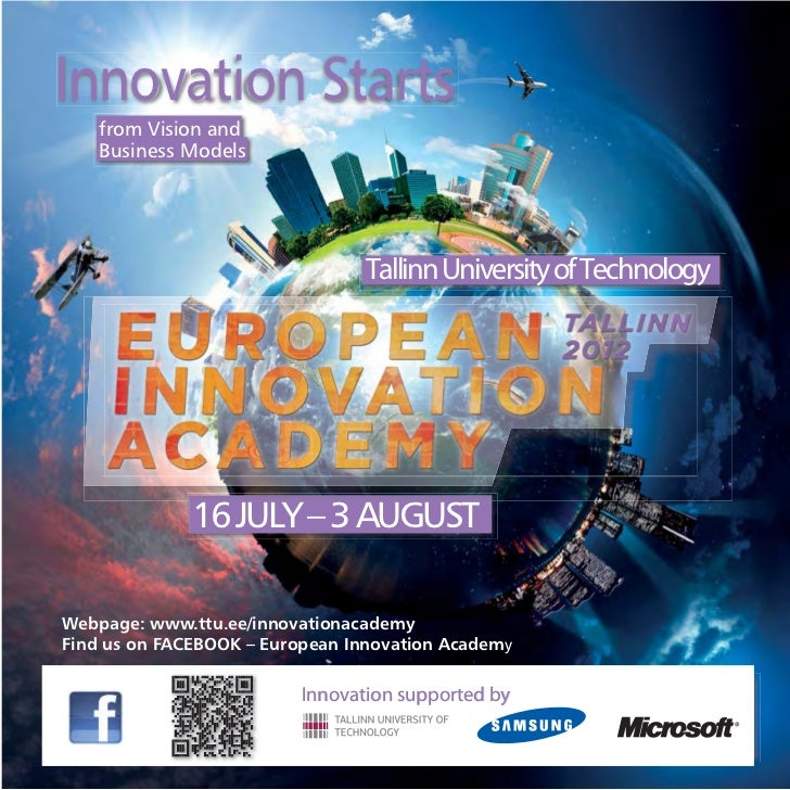 Innovation Starts    from Vision and    Business Models                                 Tallinn University of Technology  ...