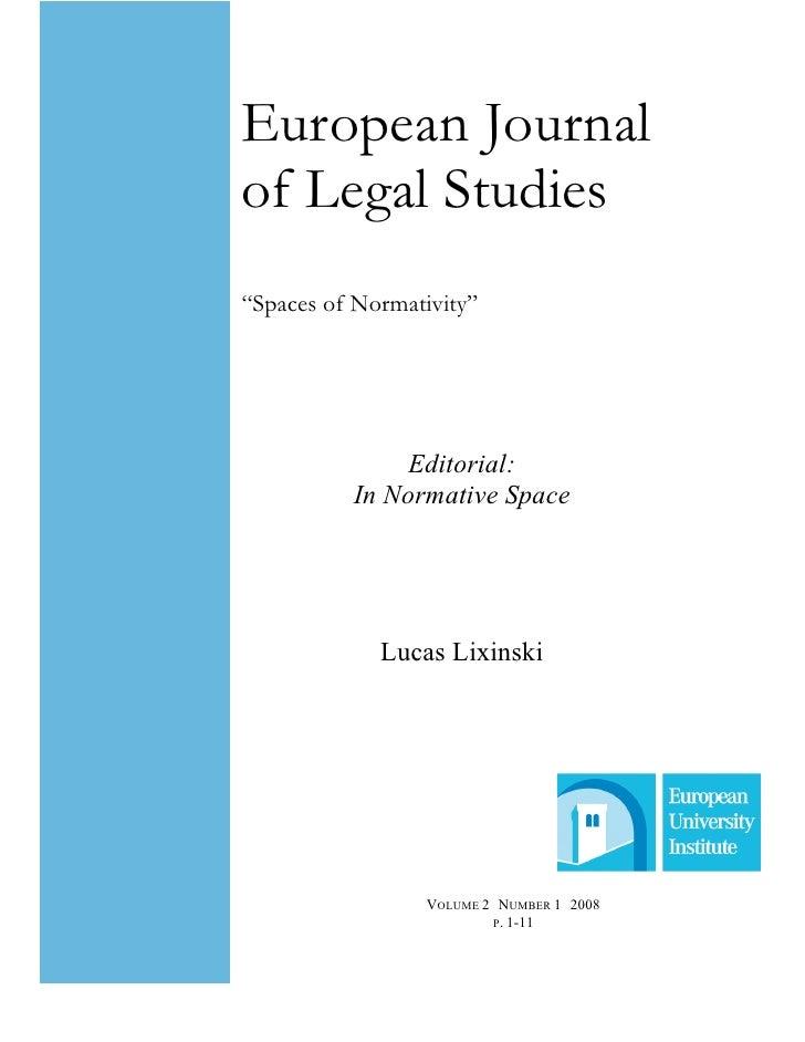 European Journal Of  Legal Studies