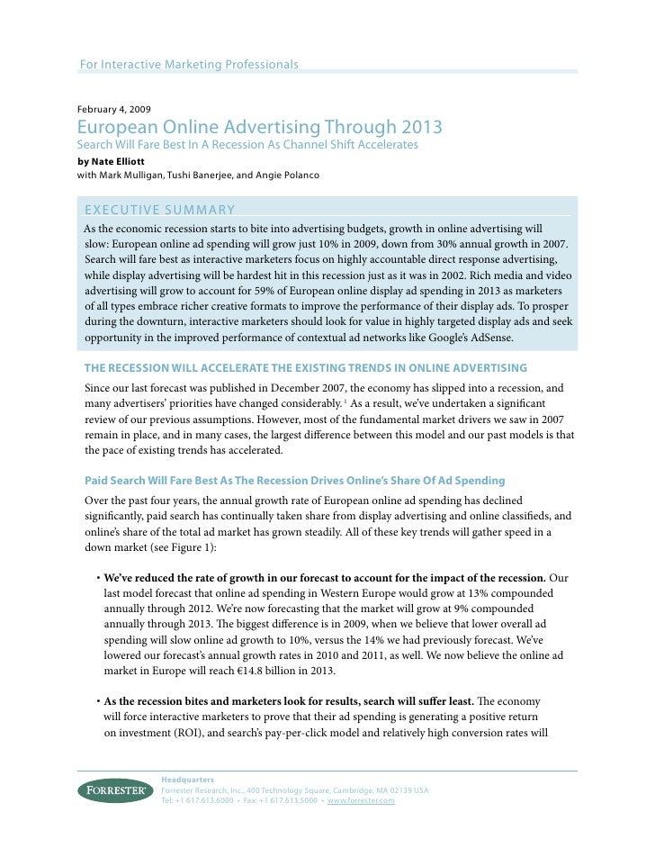 European online advertising through 2013