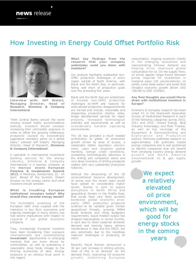 How Investing in Energy Could Offset Portfolio Risk                                           What key findings from the  ...