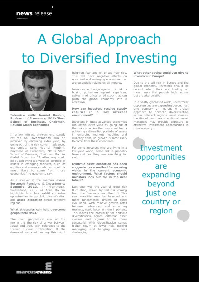 A Global Approach        to Diversified Investing                                              heighten fear and oil price...