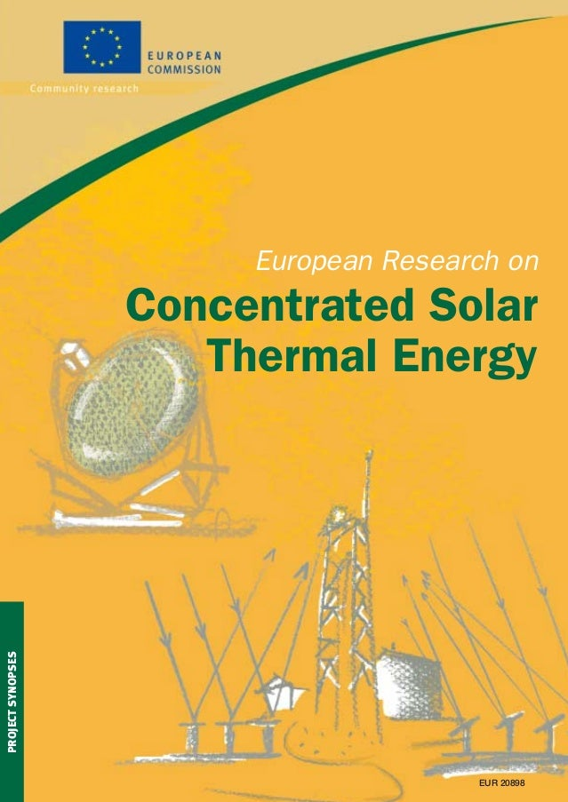 European research on concentrated solar thermal energi