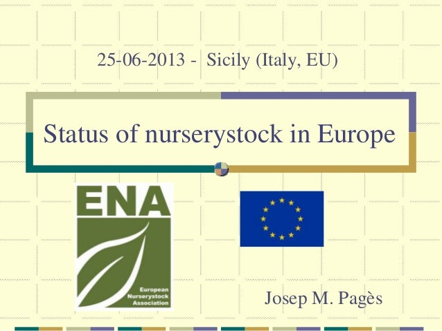 European nurserystock sector ENA 20130625