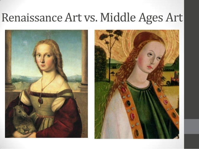medieval vs renaissance art Difference between medieval and renaissance painting medieval and renaissance art differ in several respects: in the depiction of spatial depth, in the scale of human figures, in the relationships of figures to one another and to the environments in which they are placed, and in the drawing of three-dimensional objects.