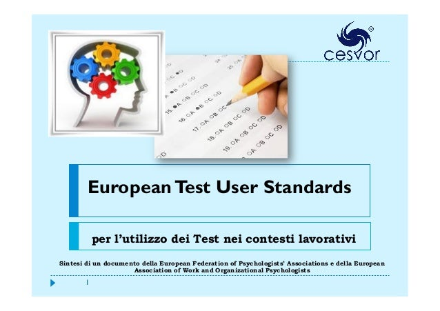 European test user standard