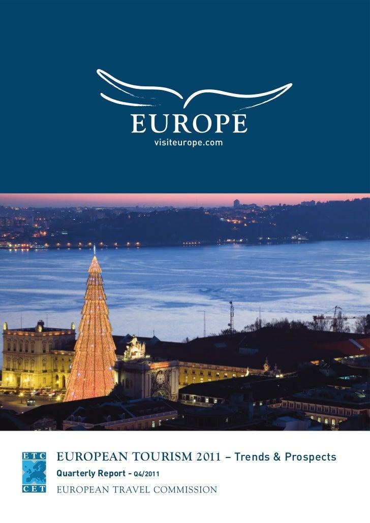 EUROPEAN TOURISM 2011 – Trends & ProspectsQuarterly Report - Q4/2011