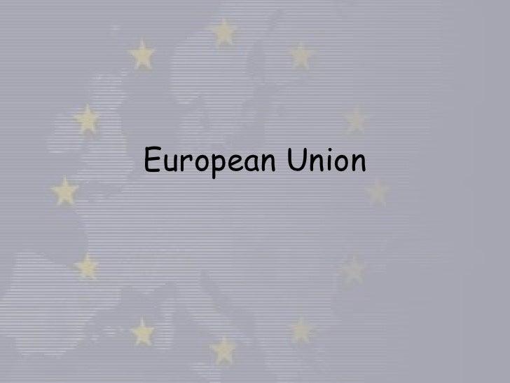 European Union<br />