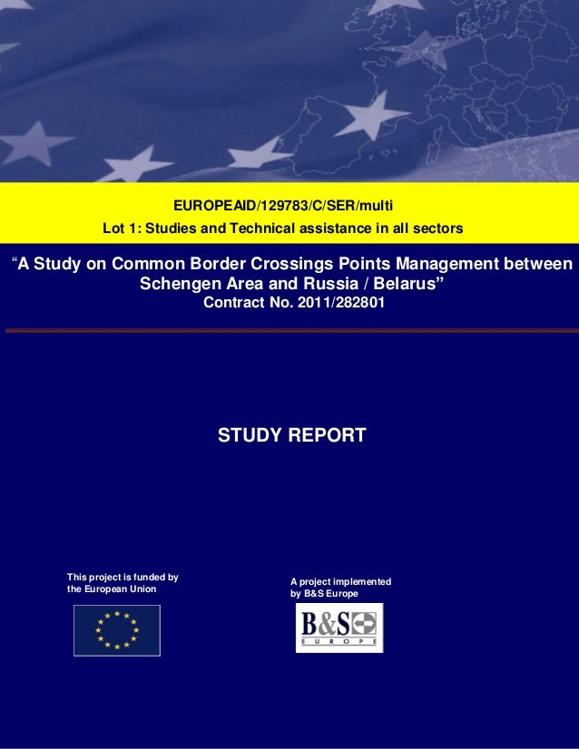 """F;ù  EUROPEAID/129783/C/SER/multi Lot 1: Studies and Technical assistance in all sectors  """"A Study on Common Border Crossi..."""