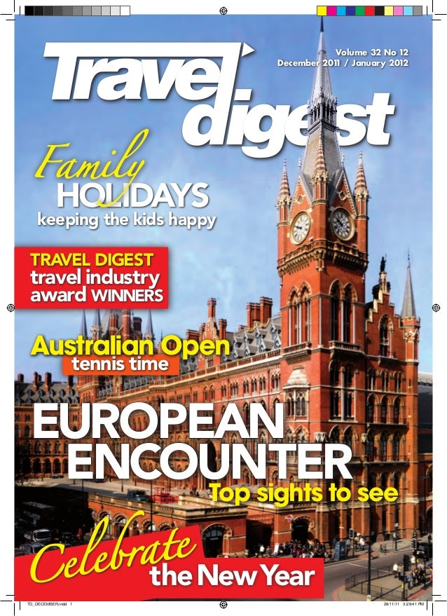 Europe cover, Travel Digest, December 2011/January 2012