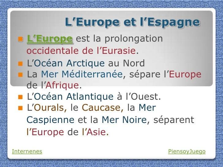 L'Europe et l'Espagne