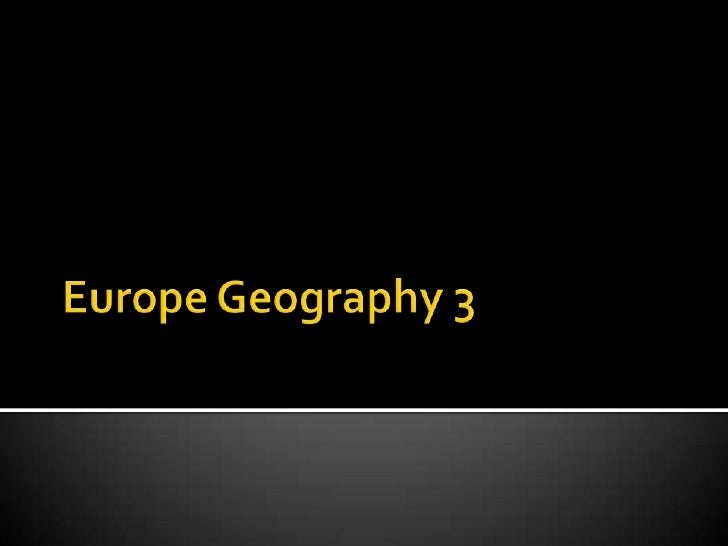Europe geograpy 3