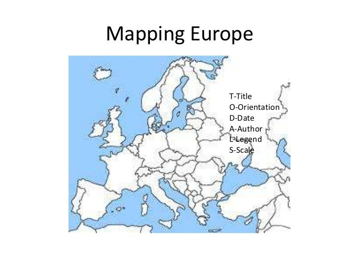 Mapping Europe           T-Title           O-Orientation           D-Date           A-Author           L-Legend           ...