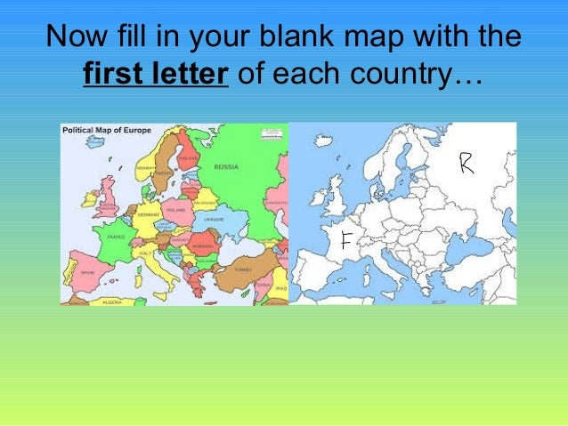 Blank Map Of Europe Quiz