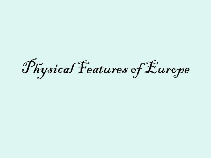Europe physicalfeatures
