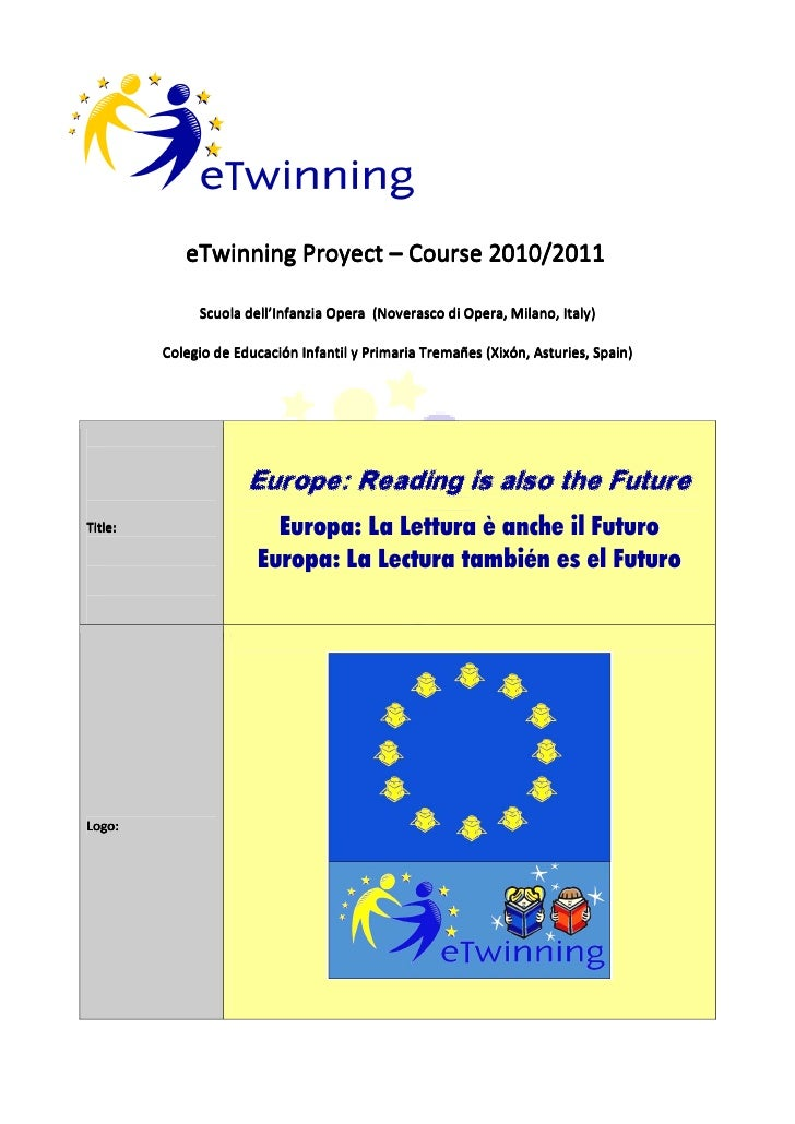Europe, reading is also the future (e twinning)
