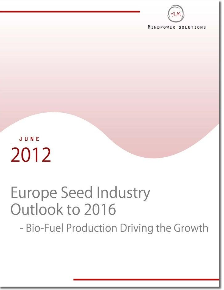Europe seed industry outlook executive summary